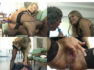Asshole liking & squirt at the slave